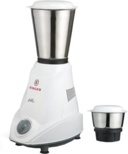 Flipkart - Buy Singer Jiffy 500 W Mixer Grinder (White, 2 Jars) at Rs 999