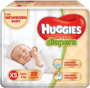 Flipkart Huggies Ultra Soft Diaper - XS (22 Pieces)