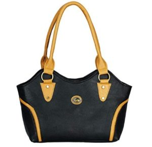 Fristo Women's Handbag (FRB-036, Black and Beige) at rs.266