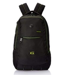 Gear 27 ltrs Black and Green Casual Backpack at rs.545