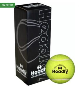 Headly Heavy Cricket Tennis Ball  (Pack of 3, Yellow) at rs.59
