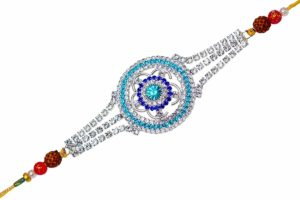 Jaipuri Diamond Designer Rakhi Gift Set for Brother (Pack of 4)