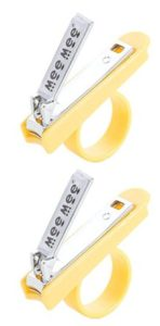 Mee Mee Gentle Nail Clipper with Easy Grip, Yellow (Pack of 2)