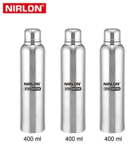Nirlon Stainless Steel Bottle Set, Set of 3 at rs.318