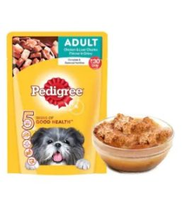 Pedigree Gravy Adult Dog Food Chicken & Liver Chunks 80 g at re.1