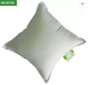 Recron Certified Plain Back Cushion Pack of 5  (White)