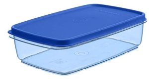 Signoraware Crystal Flat Container, 1.2 Litres, Set of 1, Turquoise Blue at rs.116