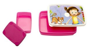 Signoraware Dream Land Compact Plastic Lunch Box Set, 2-Pieces, Pink at rs.117
