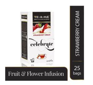 TE-A-ME Strawberry Cream Herbal Infusion Tea,ICE TEA,Tea Bags (Pack of 25) at rs.112