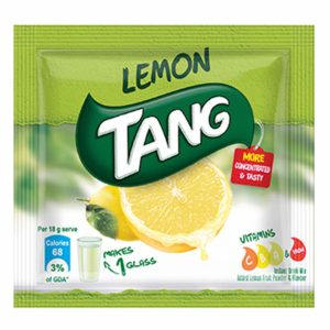 Tang Lemon Instant Drink Mix, 18 gm Sachet (Pack of 60)