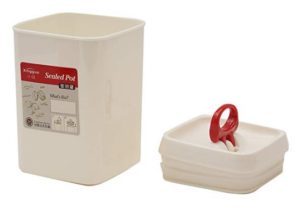 Tosaa  Plastic Storage Container, 900ml, White at rs.178