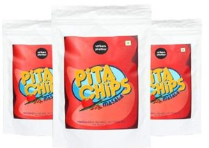 Urban Platter Masala Pita Chips, 125g pack of 3