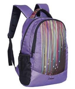 Zwart 25 Ltrs Purple Printed School Backpack (FAZER-Raindrop) at rs.337