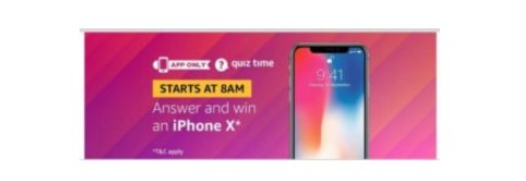 amazon quiz iphonex