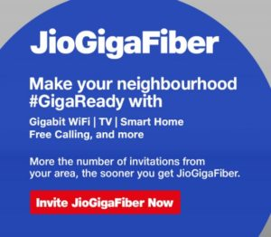 jio fiber invitation