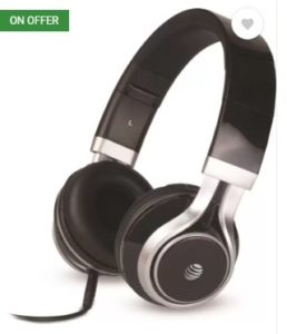 AT&T HP10-BLK Wired Headphone  (Black, Over the Ear)