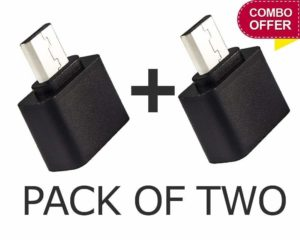 Amazon- Buy Alino Click Micro USB On-The-Go OTG Adapter for Smartphones (2 Unit) at Rs 19