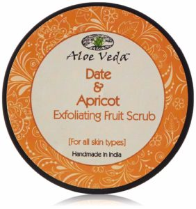 Amazon- Buy Aloe Veda Dates, Apricot and Cane Sugar Exfoliating Fruit Scrub, 100g at Rs 211