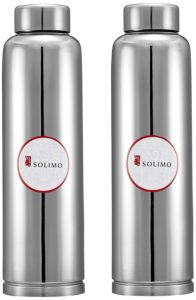 Amazon- Buy Amazon Brand - Solimo Regal Stainless Steel Fridge Bottle at Rs 529