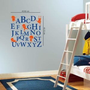 Amazon- Buy Asian Paints Wall-ONS Alphabets Kids Wall Sticker at Rs 64