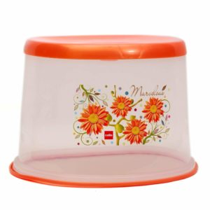 Amazon- Buy Cello Floris Plastic Tuffy Stool, Orange at Rs 229