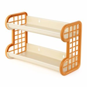 Amazon- Buy Cello Hong Kong Plastic Storage Shelf, Ivory Yellow at Rs 197