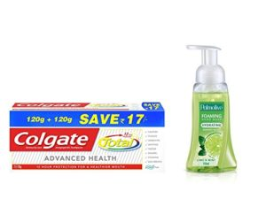 Amazon- Buy Colgate Total Toothpaste-240 g & Palmolive Hand Wash - 250 ml