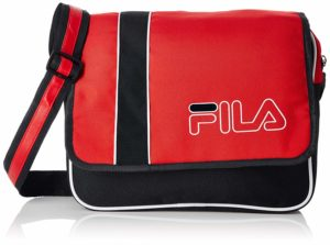 Amazon- Buy FILA Polyester 27.5 cms Blk/Rd Messenger Bag (Neptune) at Rs 362