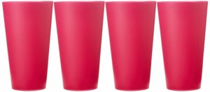 Amazon- Buy Haixing Plastic Cup, 450ml, Multicolour (Set of 4 pieces) at Rs 70