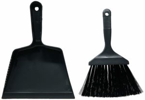 Amazon- Buy Haixing Plastic Dust Pan with Brush, 2-Pieces, Black at Rs 89