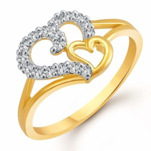 Amazon- Buy Meenaz American Diamond Gold Plated Jewellery Finger Rings at Rs 129
