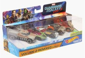 HOT WHEELS Unisex Guardians of the Galaxy Toy Car Set