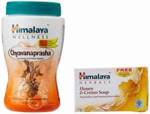 Himalaya Herbals Chyavanaprasha - 500 g with Free Himalaya Honey and Cream Soap - 75 g at Rs 127