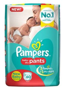 Pampers New Born Diaper Pants, X-Small at rs.100