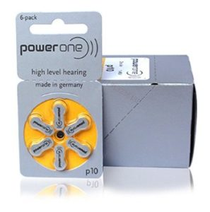 Power One Hearing Aid Battery Size 10-6 Pcs