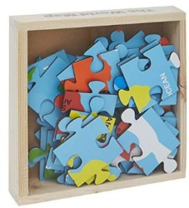 Skillofun Map of World Jigsaw Floor Puzzle in Wooden Box, Multi Color