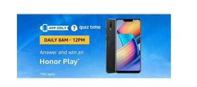 amazon quiz honor play