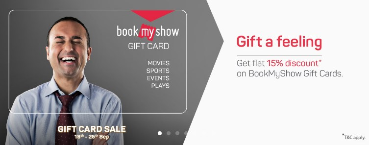 bms 15% off on gift card