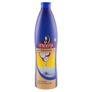 Amazon- Buy Meera Pure Coconut Hair Oil, 500ml at Rs 113