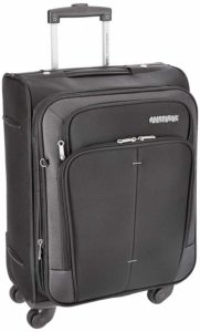 American Tourister Crete Polyester 55 cm Black Softsided Carry On