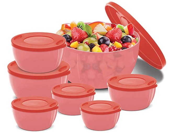BMS GoodDay Storex Fresh Plastic Bowl Package Container, Set of 7 at rs.207
