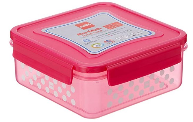 Cello Max Fresh Super Click Plastic Multi Storage Container with Lid, 1.5 Litres, Pink at rs.121