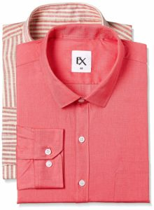 Amazon - Buy Excalibur by Unlimited Men's Solid Regular Fit Formal Shirt (Pack of 2) at Rs. 299