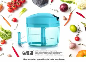 Ganesh Plastic Quick Chopper, 725ml, Pool Green at Rs 199 only amazon