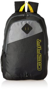 Gear 20 Ltrs Black Casual Backpack