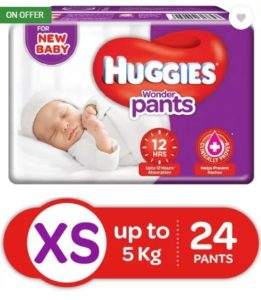 Huggies Wonder Pants Diaper - XS (24 Pieces) at rs.98