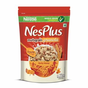 Nestle NesPlus Breakfast Cereal, Multigrain Granola - Nutty Honey