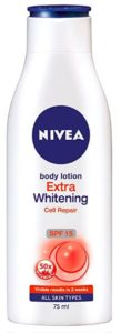 Nivea Extra Whitening Cell Repair Body Lotion SPF 15 Rs 49