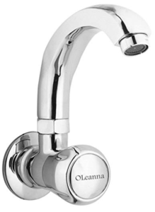 Oleanna Spark Sink Cock with Swivel Casted Spout Wall Mounted Model (Chrome) at Rs 580 only