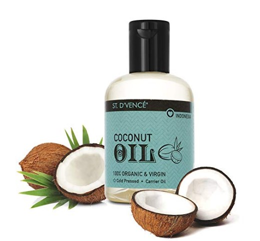 ST. D'VENCE Organic & Virgin Coconut Coldpressed Natural Carrier Oil, Coconut Oil (100 ml) at rs.149